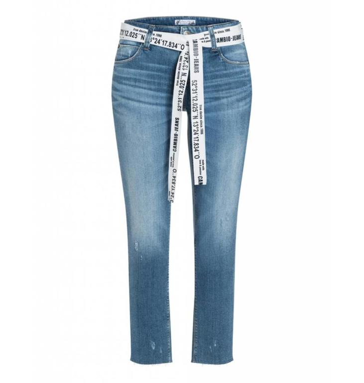 Cambio Cambio Denim Blue Tess Straight 9155