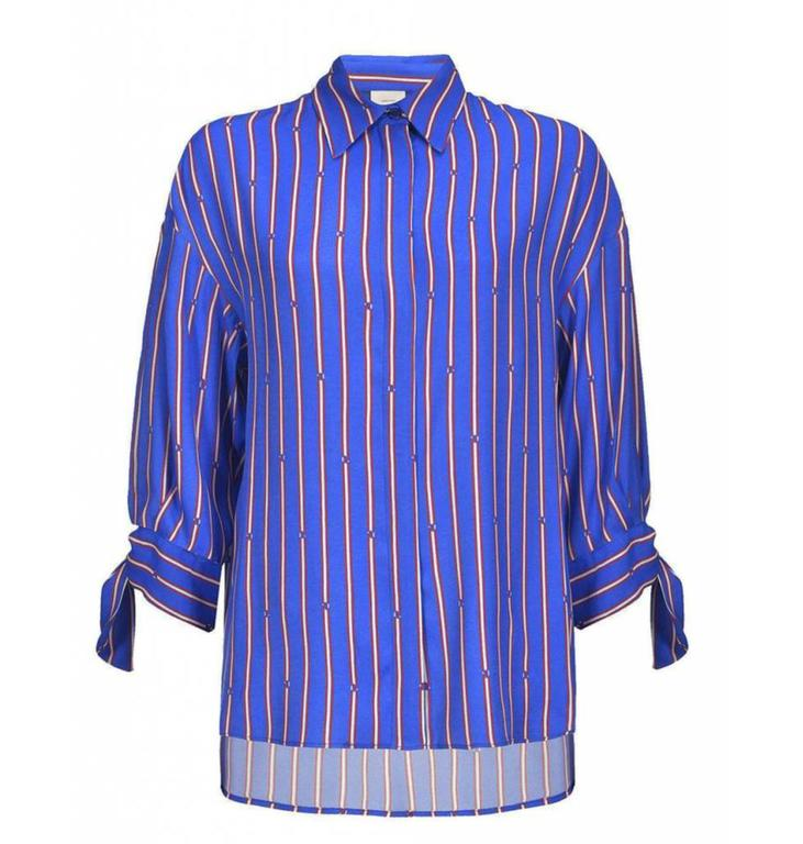 Pinko Pinko Blue Striped Blouse Facile
