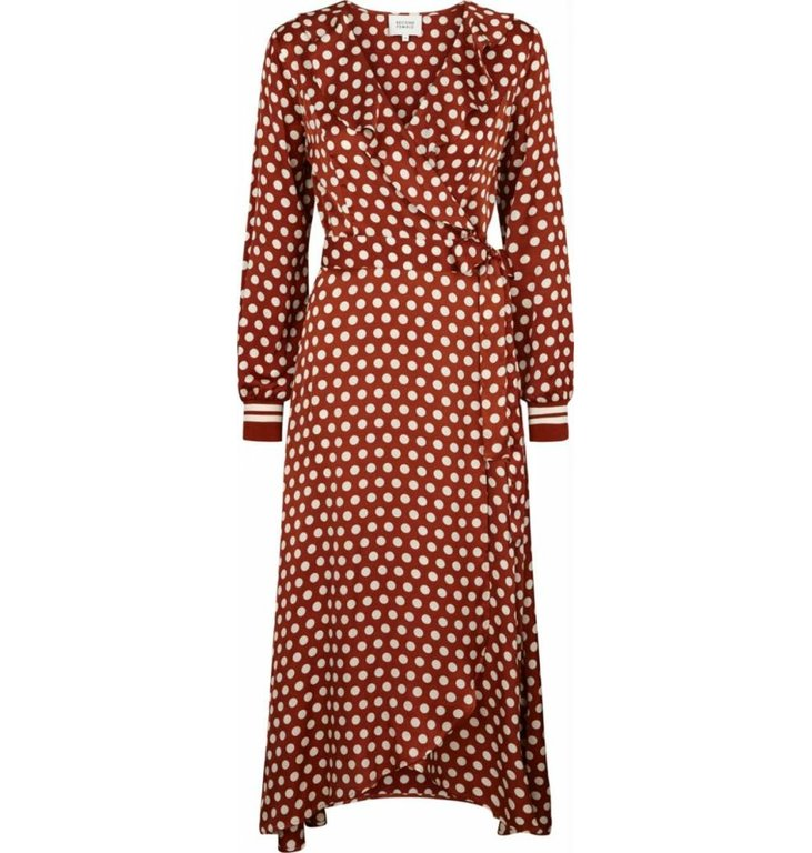 Second Female Second Female Roest Wrap Dress Spotty