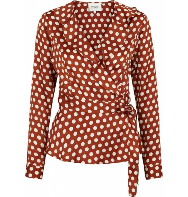 Second Female Second Female Roest Wrap Blouse Spotty