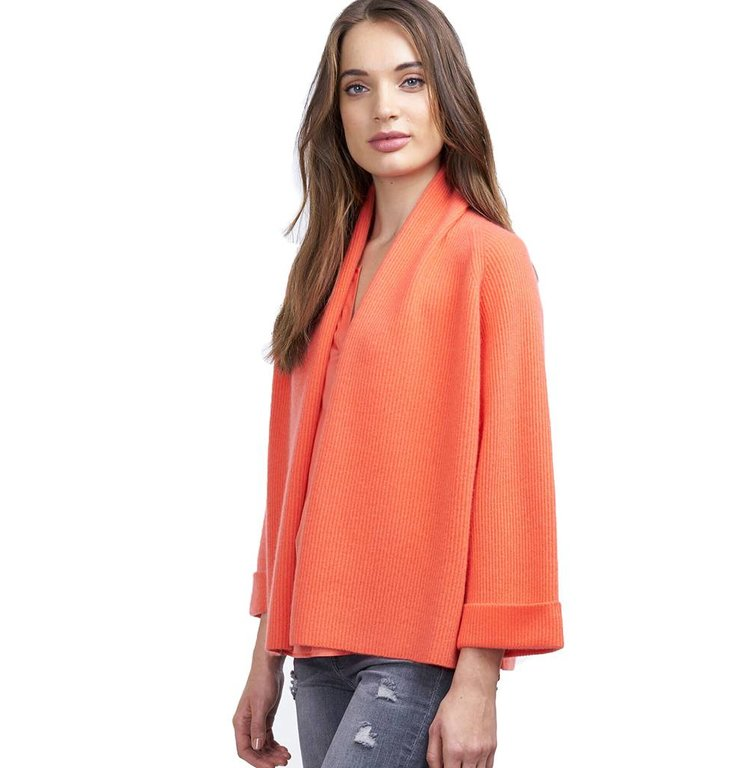 Repeat Repeat Orange Cardigan 100272