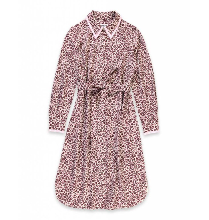 Essentiel Antwerp Essentiel Antwerp Leopard Ecru/Bordeaux Dress Sama