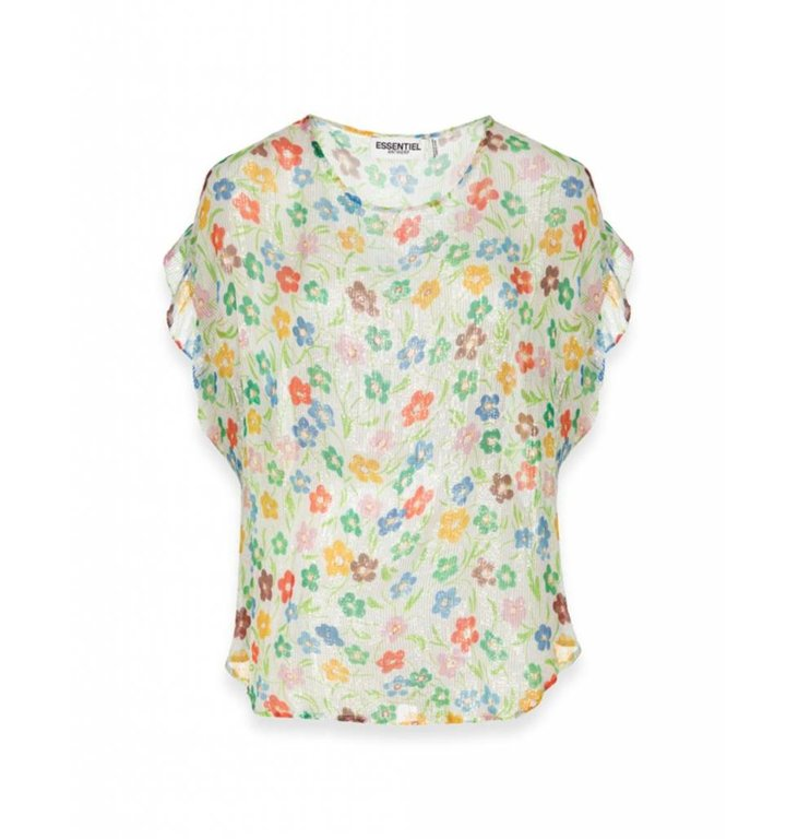 Essentiel Antwerp Essentiel Antwerp Ecru/Green Blouse Saleisha