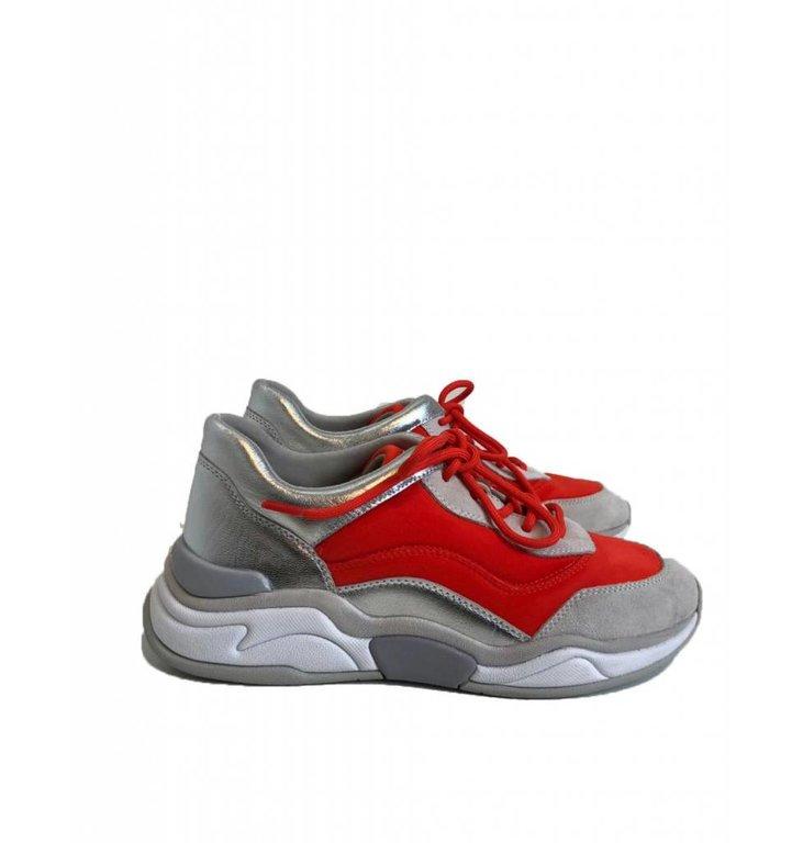 Marc Cain Marc Cain Silver/Orange Sneaker LBSH15