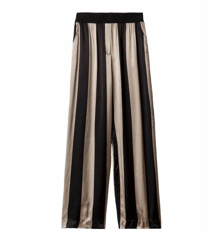 10Days 10Days Brown Wide Leg Pants Big Stripe 20.018.9101