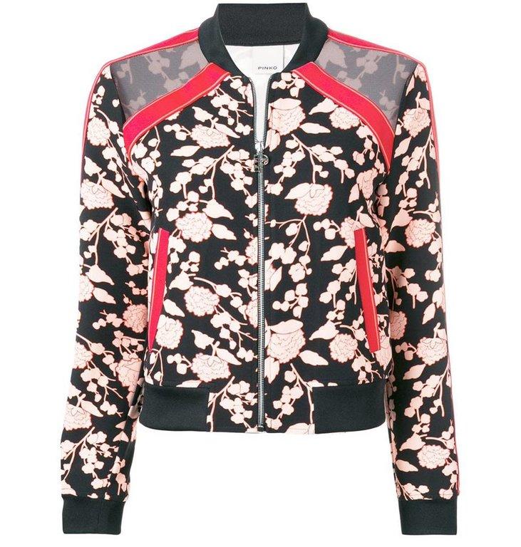 Pinko Pinko Pink Bomber Jacket Pericolozo