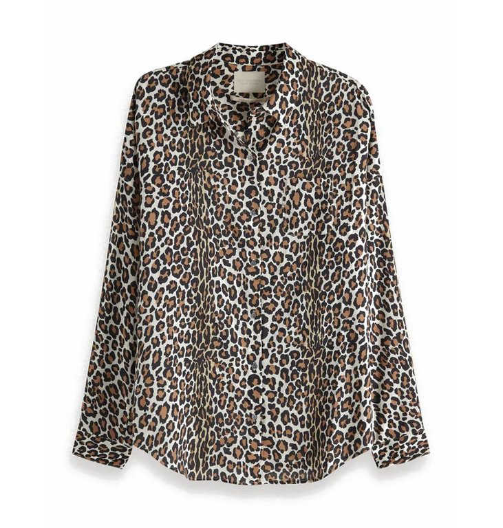 Maison Scotch Maison Scotch Leopard Oversized Shirt 149773