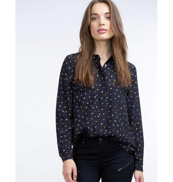 Repeat Repeat Black Print Blouse 600236