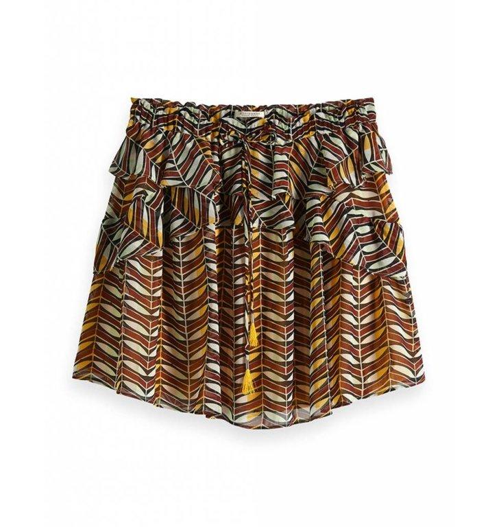 Maison Scotch Maison Scotch Multicolour Printed Skirt 149921