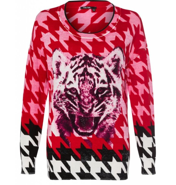 Marc Aurel Marc Aurel Red Knitted Sweater 8286