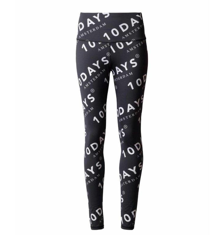 10Days 10Days Black Yoga Leggings Logo 20.026.9101
