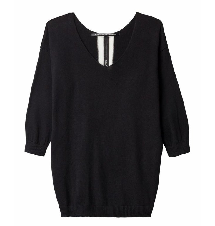 10Days 10Days Black V-Neck Sweater 20.613.9101