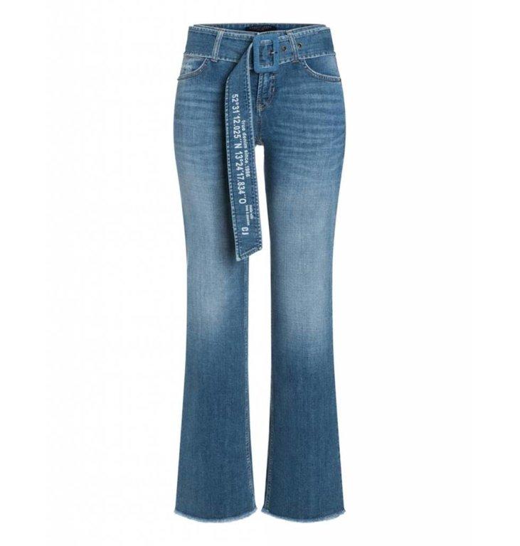 Cambio Cambio Denim Blue Tess Wide Leg 9150