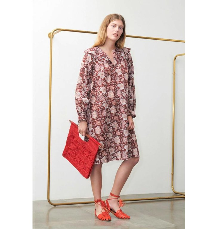Antik Batik Antik Batik Bordeaux Dress Jody