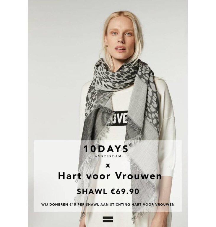 10Days 10Days Grey Hart Voor Vrouwen Sjaal 71.910.9900