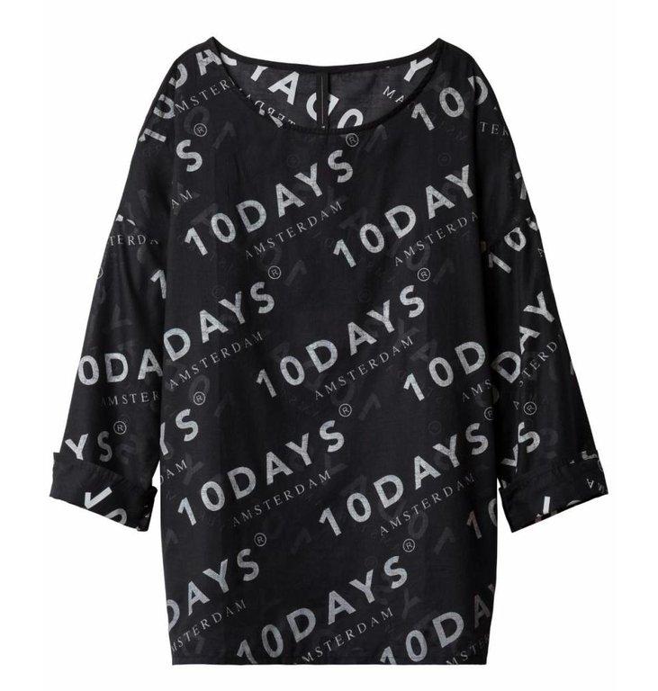 10Days 10Days Black Blouse Logo 20.414.9101