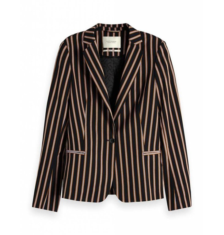 Maison Scotch Maison Scotch Navy Striped Blazer 150035