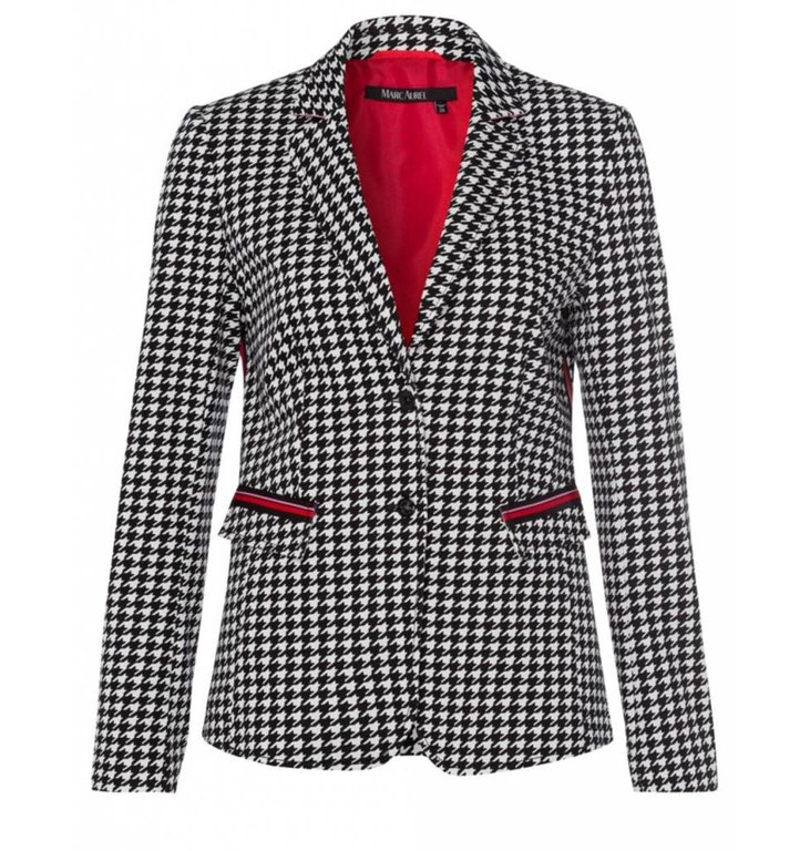 Marc Aurel Marc Aurel Black/White Houndstooth Blazer 3524