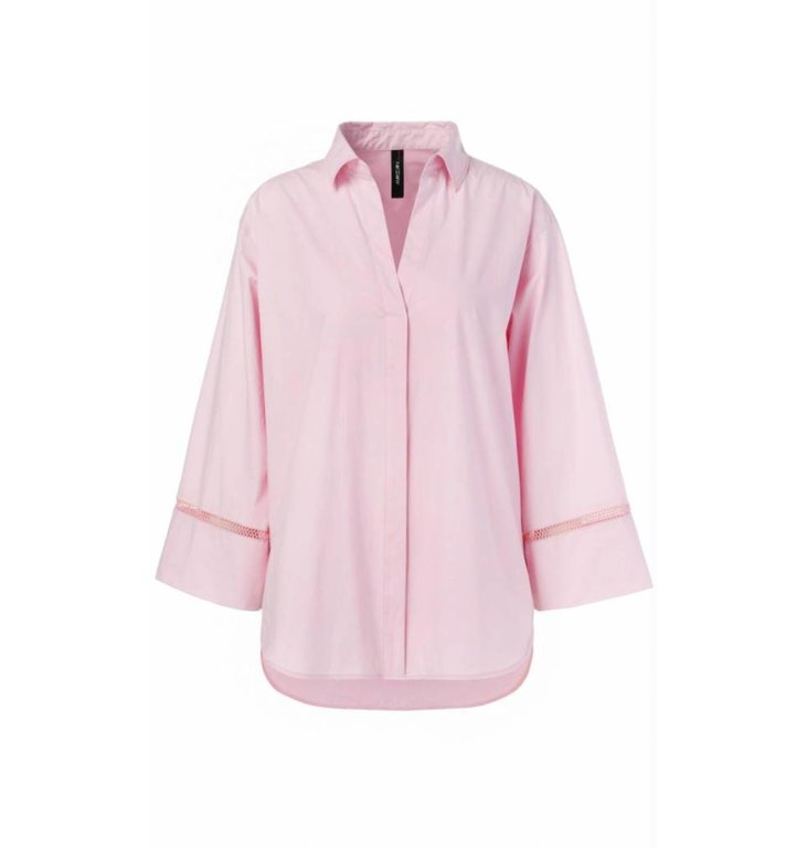 Marc Cain Marc Cain Pink Popeline Blouse LC5136