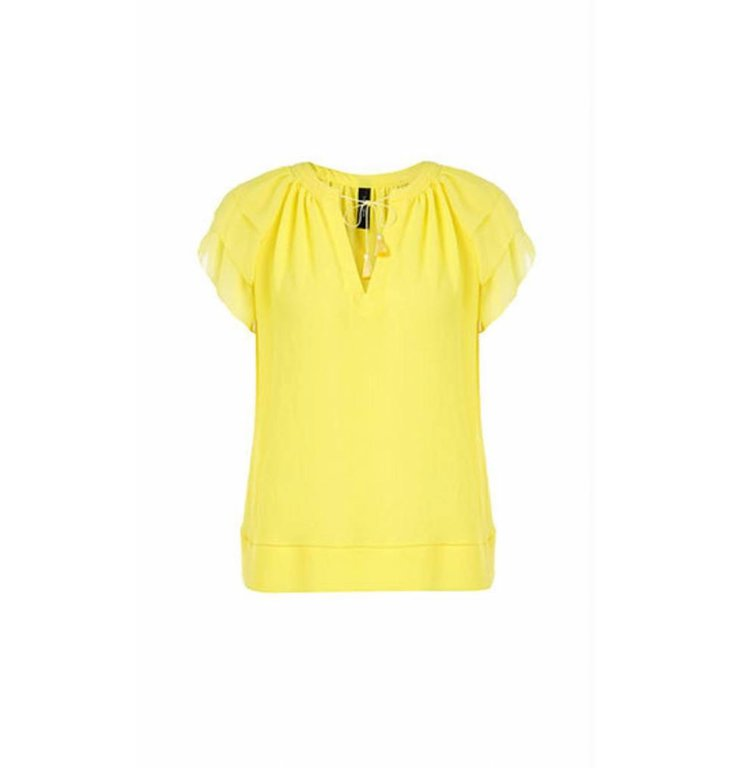 Marc Cain Marc Cain Yellow Blousetop LC5606