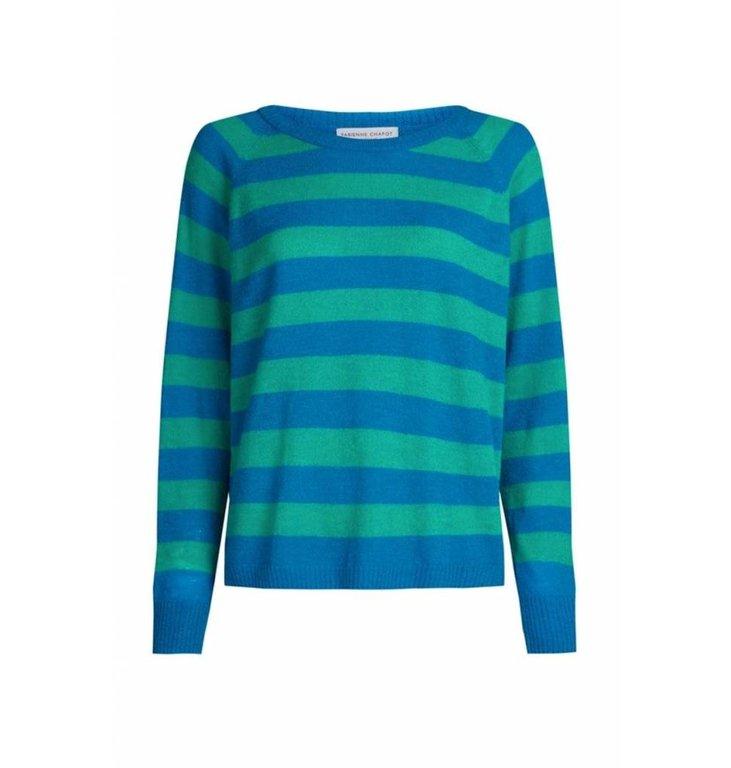 Fabienne Chapot Fabienne Chapot Striped Blue/Green Knit Clio