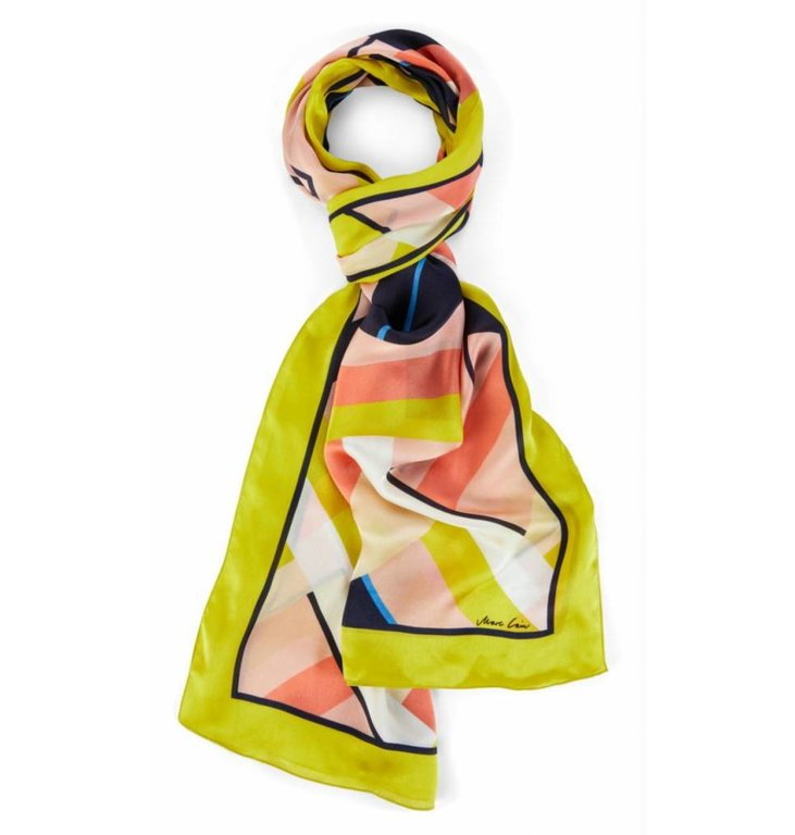 Marc Cain Marc Cain Yellow Printed Scarf LCB415