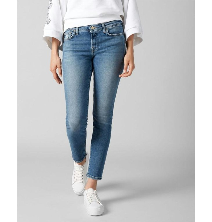 7 For All Mankind 7 For All Mankind Denim Blue Pyper Crop Luxe Capitola JSL41200