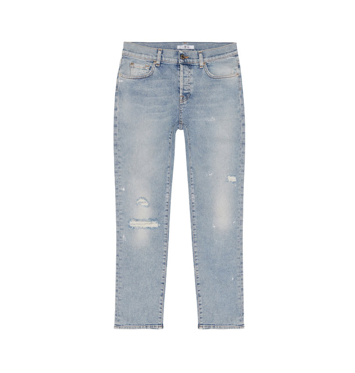 7 For All Mankind 7 For All Mankind Denim Blue Asher Larchmont Distressed JSDSR830VN