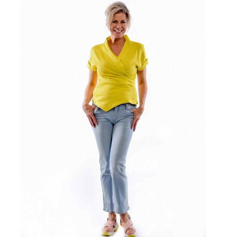 Marc Cain Marc Cain Yellow Blousetop LC5603