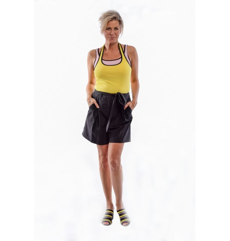 Marc Cain Marc Cain Yellow Two-tone Top LC6120