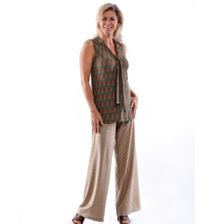 Siyu Siyu Beige Woven Trousers Nubes Gold 33