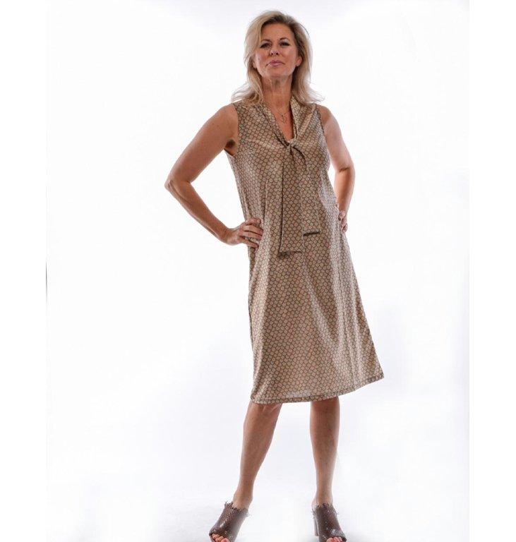 Siyu Siyu Beige Woven Dress Nubes Gold 25