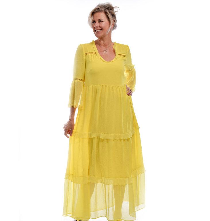 Marc Cain Marc Cain Yellow Long Dress LC2163