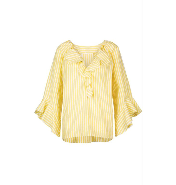 Marc Cain Marc Cain Yellow Striped Blouse LC5131