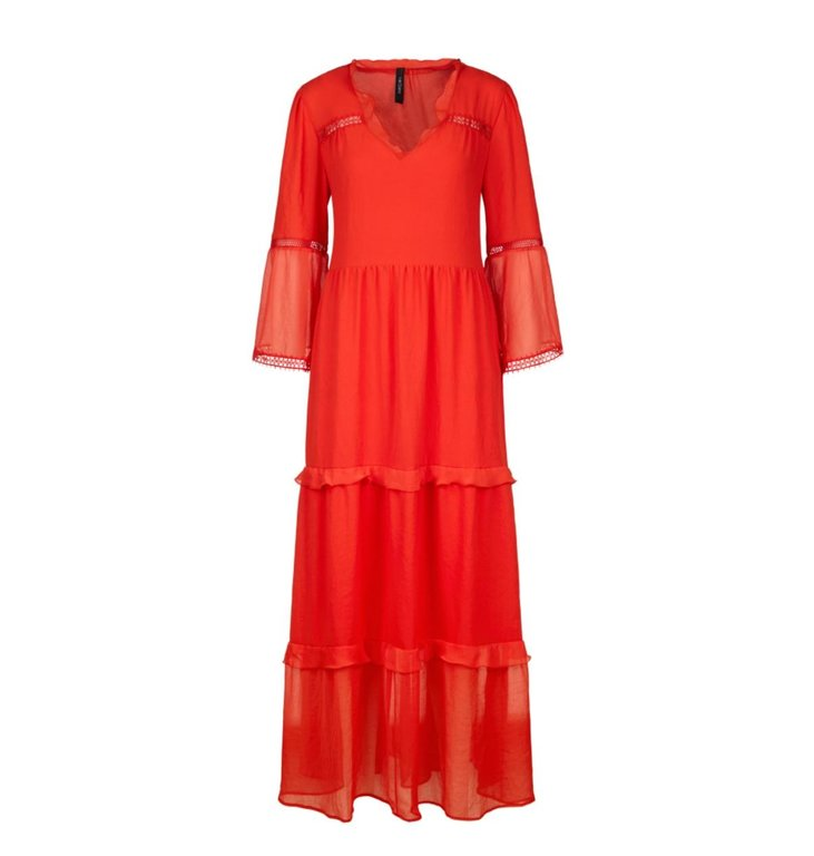Marc Cain Marc Cain Red Long Dress LC2163