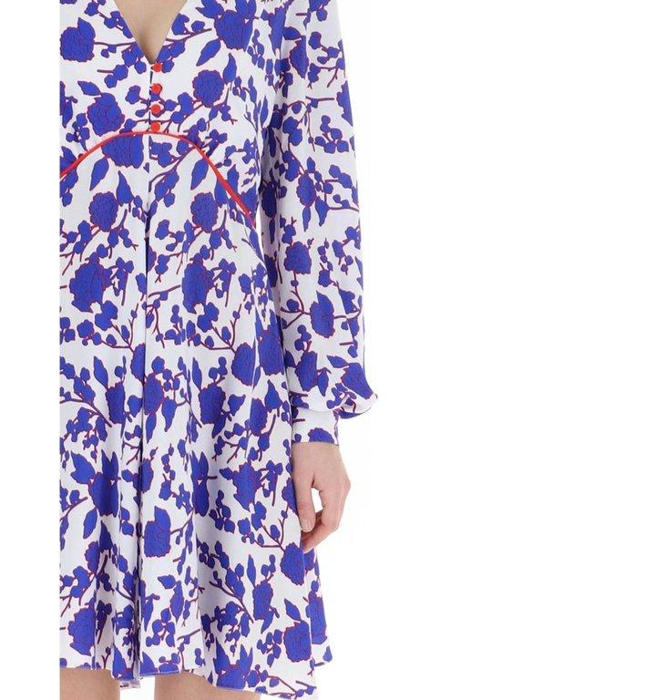 Pinko Pinko Blue Floral Dress Triste