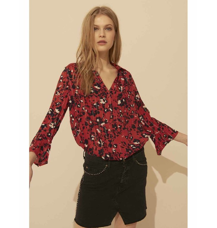 Ba&sh Ba&sh Red Blouse Eddy