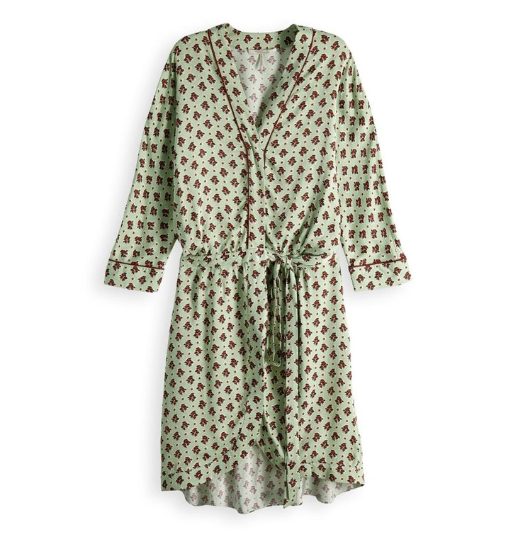 Maison Scotch Maison Scotch Green Wrapover Dress 150408
