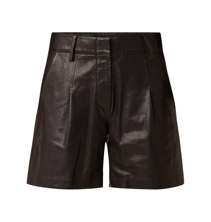 Arma Arma Black Leather Short Doree