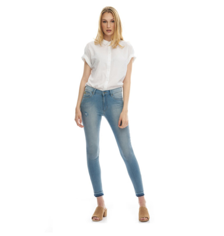Yoga Jeans Yoga Jeans Denim Blue Mid-Rise Skinny Rachel