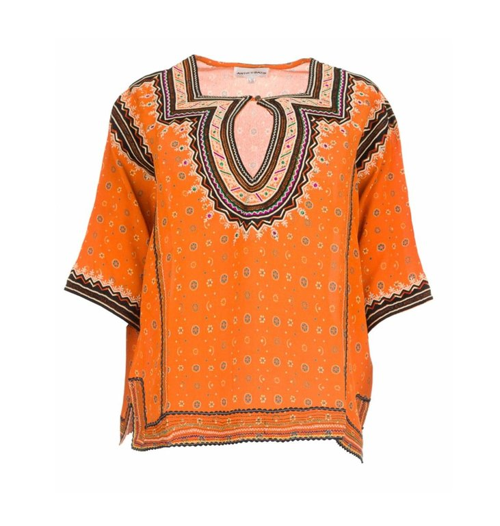 Antik Batik Antik Batik Orange Top Toki1