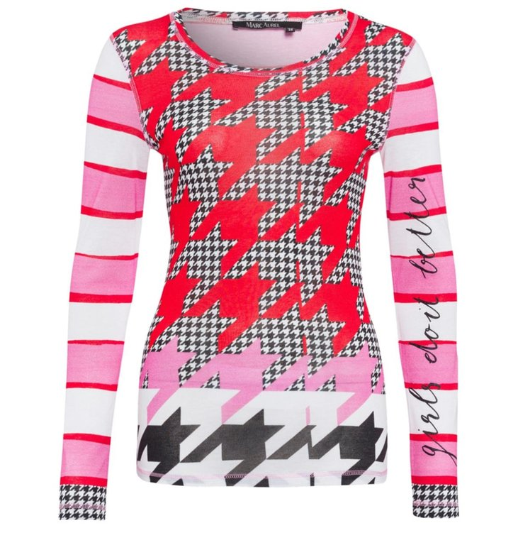 Marc Aurel Marc Aurel Pink Print Shirt 7773