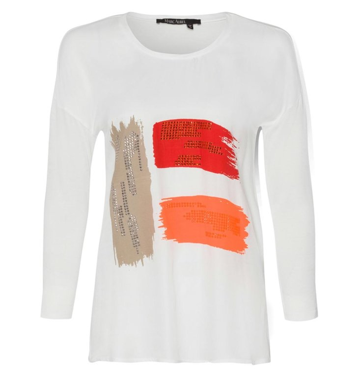 Marc Aurel Marc Aurel White Tee 7763
