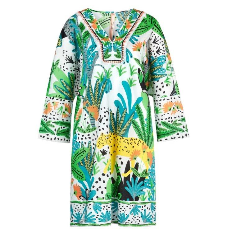Marc Cain Marc Cain Green Print Dress LA2122