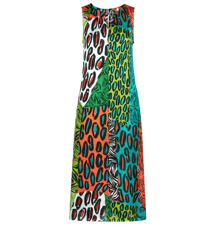 Marc Cain Marc Cain Multicolour Print Dress LA2129