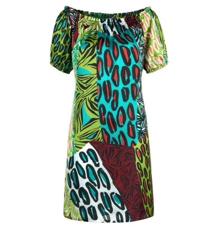 Marc Cain Marc Cain Green Print Dress LA2130