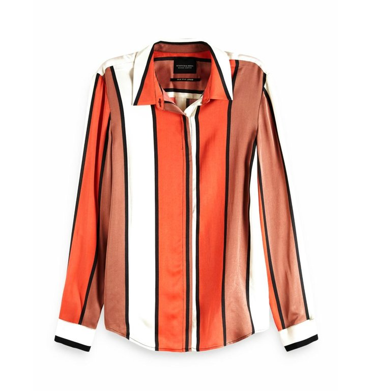 Maison Scotch Maison Scotch Orange Striped Shirt 149772