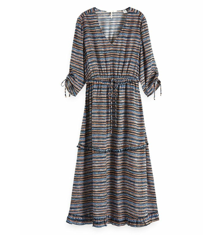 Maison Scotch Maison Scotch Multicolour Woven Midi Dress 149845