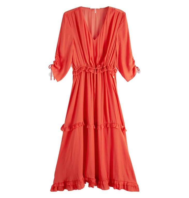 Maison Scotch Maison Scotch Orange Midi Dress 133705