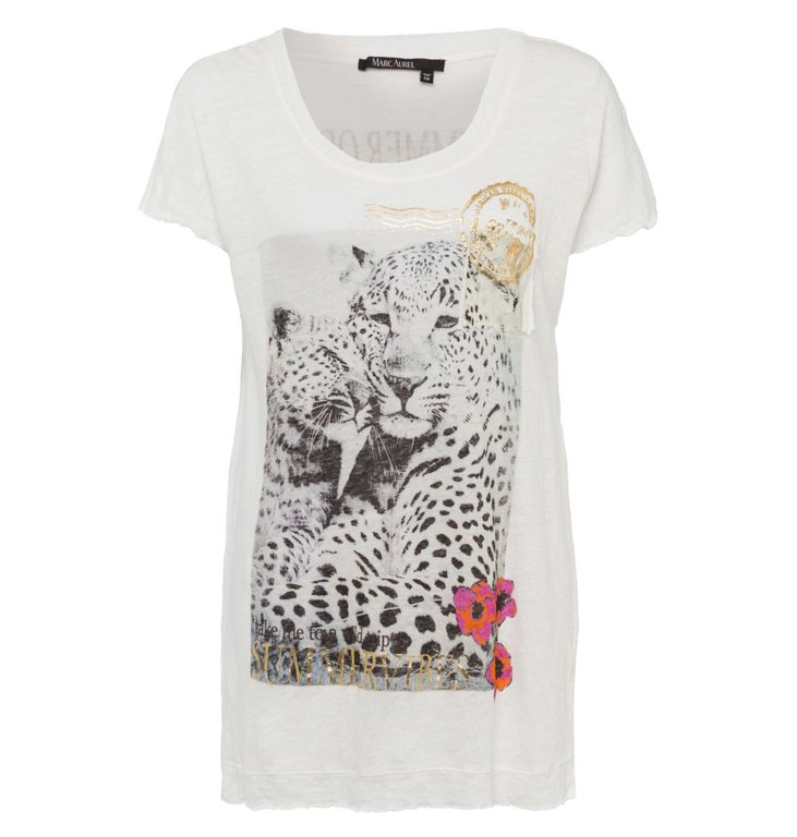 Marc Aurel Marc Aurel Ecru Graphic Shirt 7811